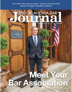 Read the January 2021 issue of the Oklahoma Bar Journal here.