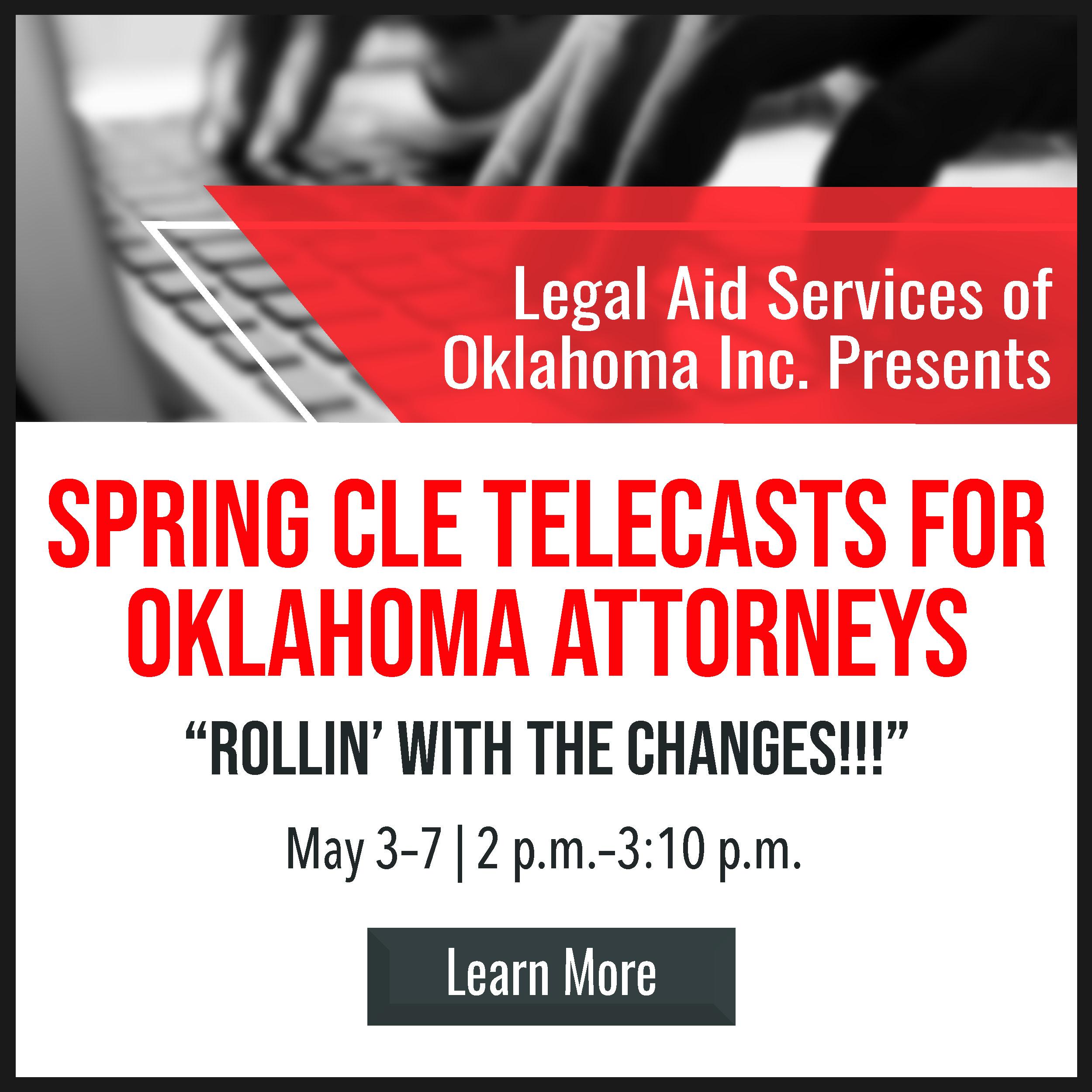 Legal Aid Spring CLE Box Ad