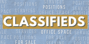 Please check back. We are experiencing an issue with our Classifieds service, and apologize they are not available this week.